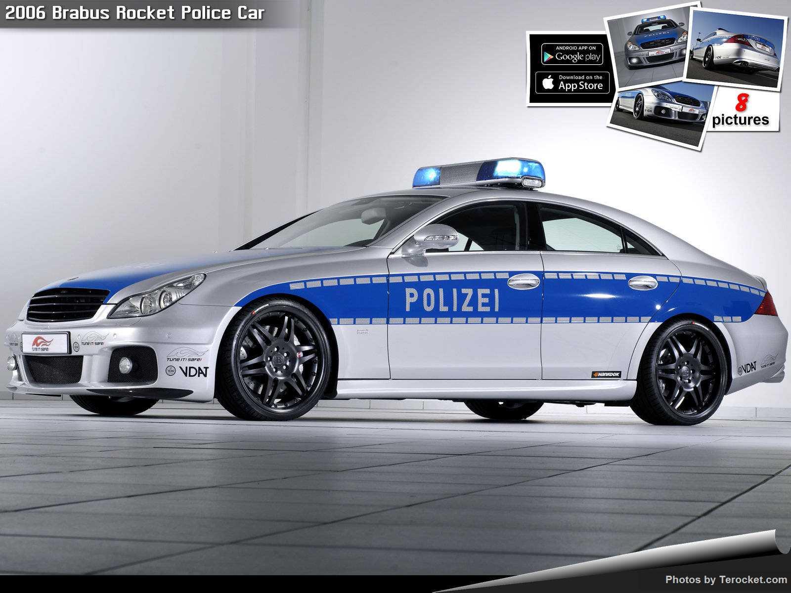 Hình ảnh xe ô tô Brabus Rocket Police Car 2006 & nội ngoại thất