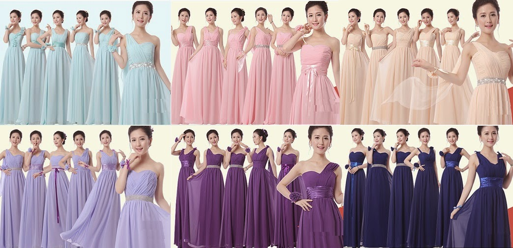 Simple Flattering 6-Design Bridesmaids Dress