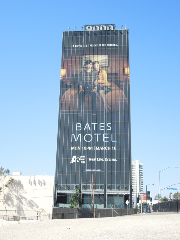 Giant Bates Motel billboard