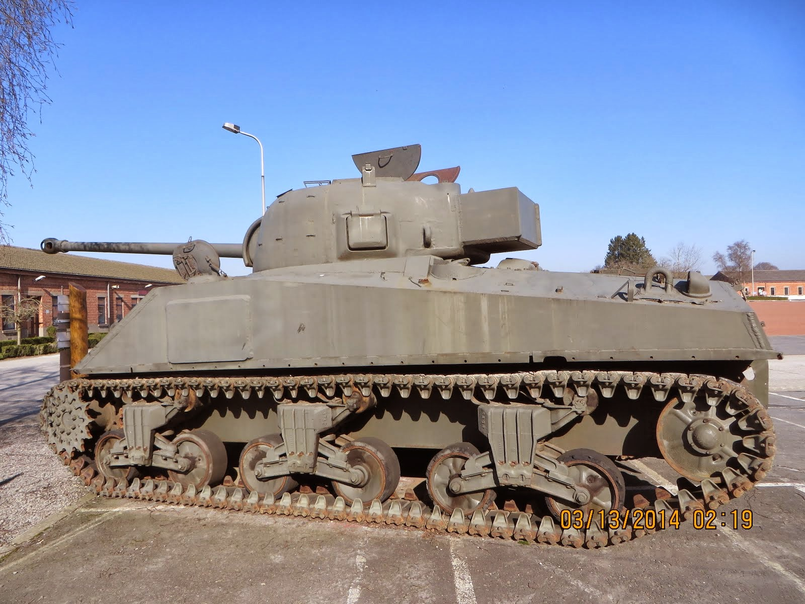 Sherman Tank, Battle of the Bulge, Bastogne Barracks, Belgium
