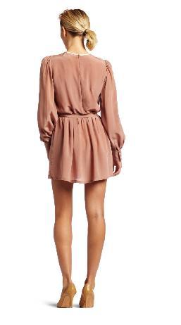 Womens Bib Front Dress - back
