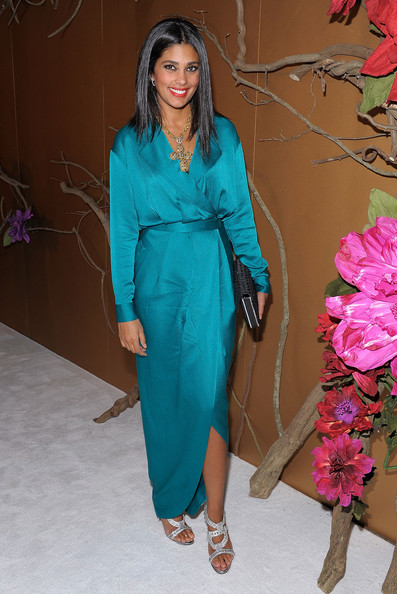 She Wore This Gorgeous Rachel Roy Wrap Dress Circa Spring 2010 Is A Perfect Alternative To Formal Suit The Color Divine On Her As Well