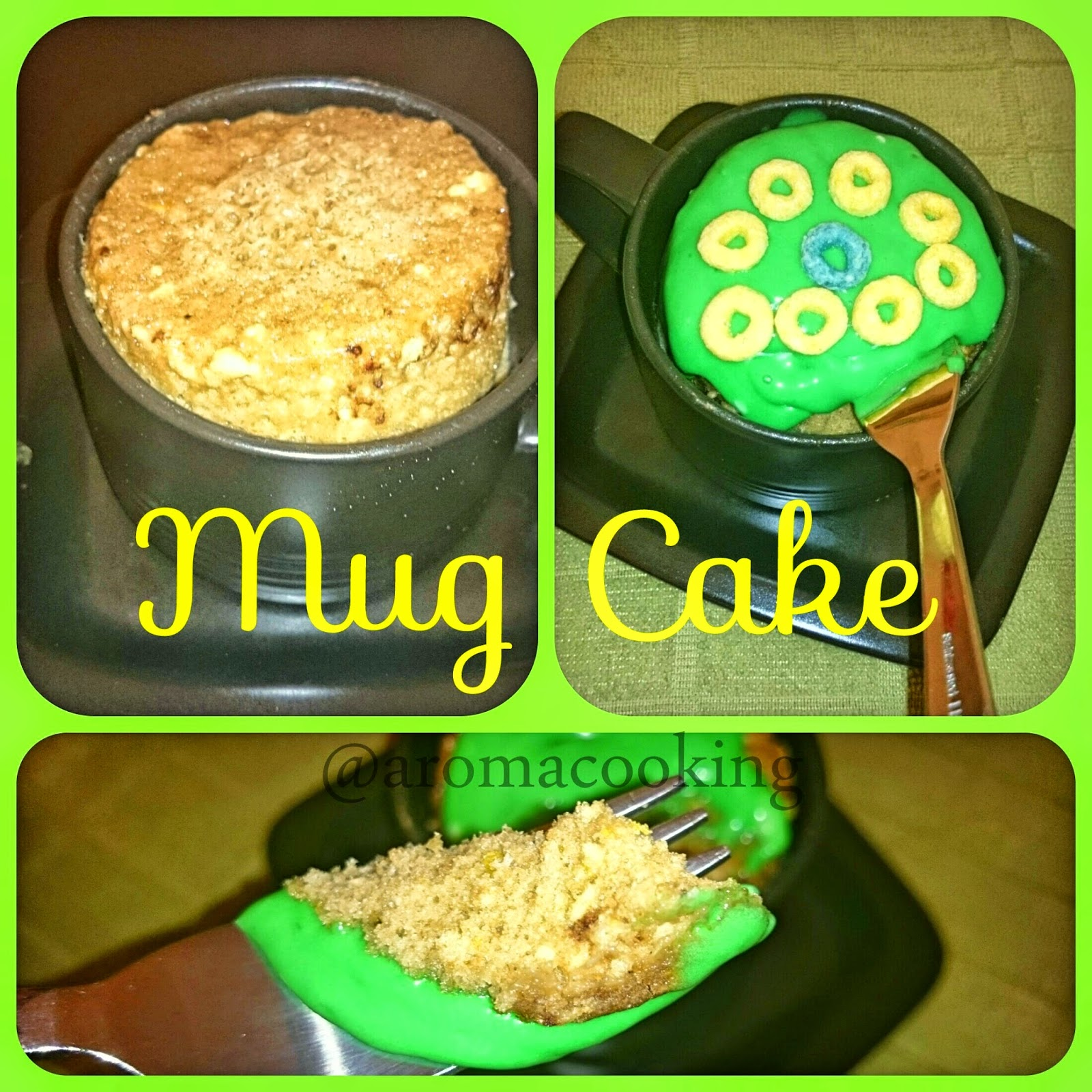 Mug cake - St Patricks Day