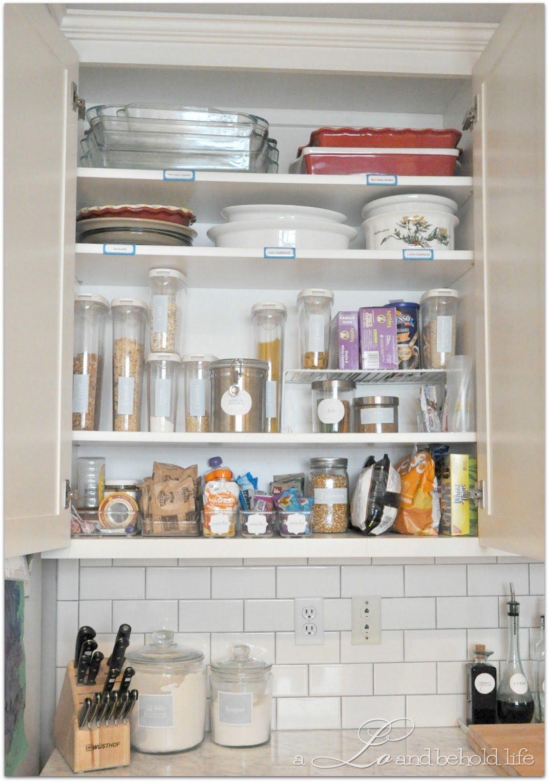 Kitchen Cupboard Organization Operation Kitchen Cabinet Re Org Update A Lo And Behold Life