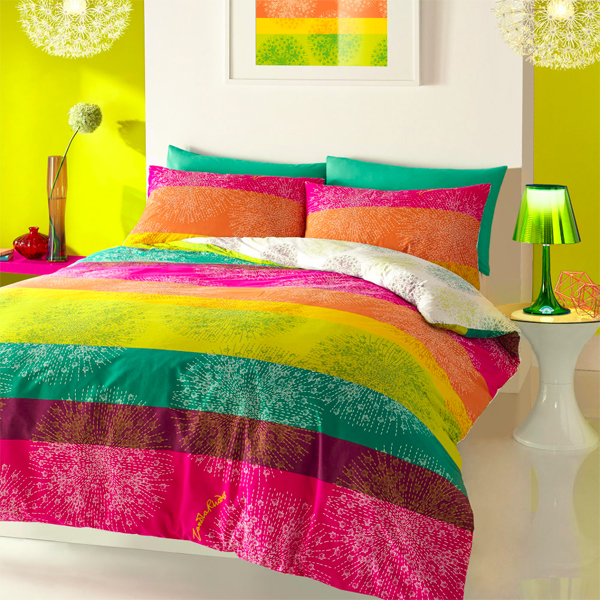 strips, colours, zandra rodhes, prints, bedding, bedline