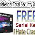 Bitdefender Total Security 2015 Offline Installer And 6 Months Serial Key (Legal)