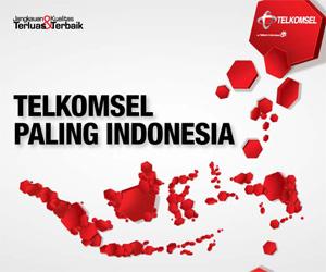 """TELKOMSEL, Paling Indonesia"""" (Telkomsel, 2009-sekarang)"""