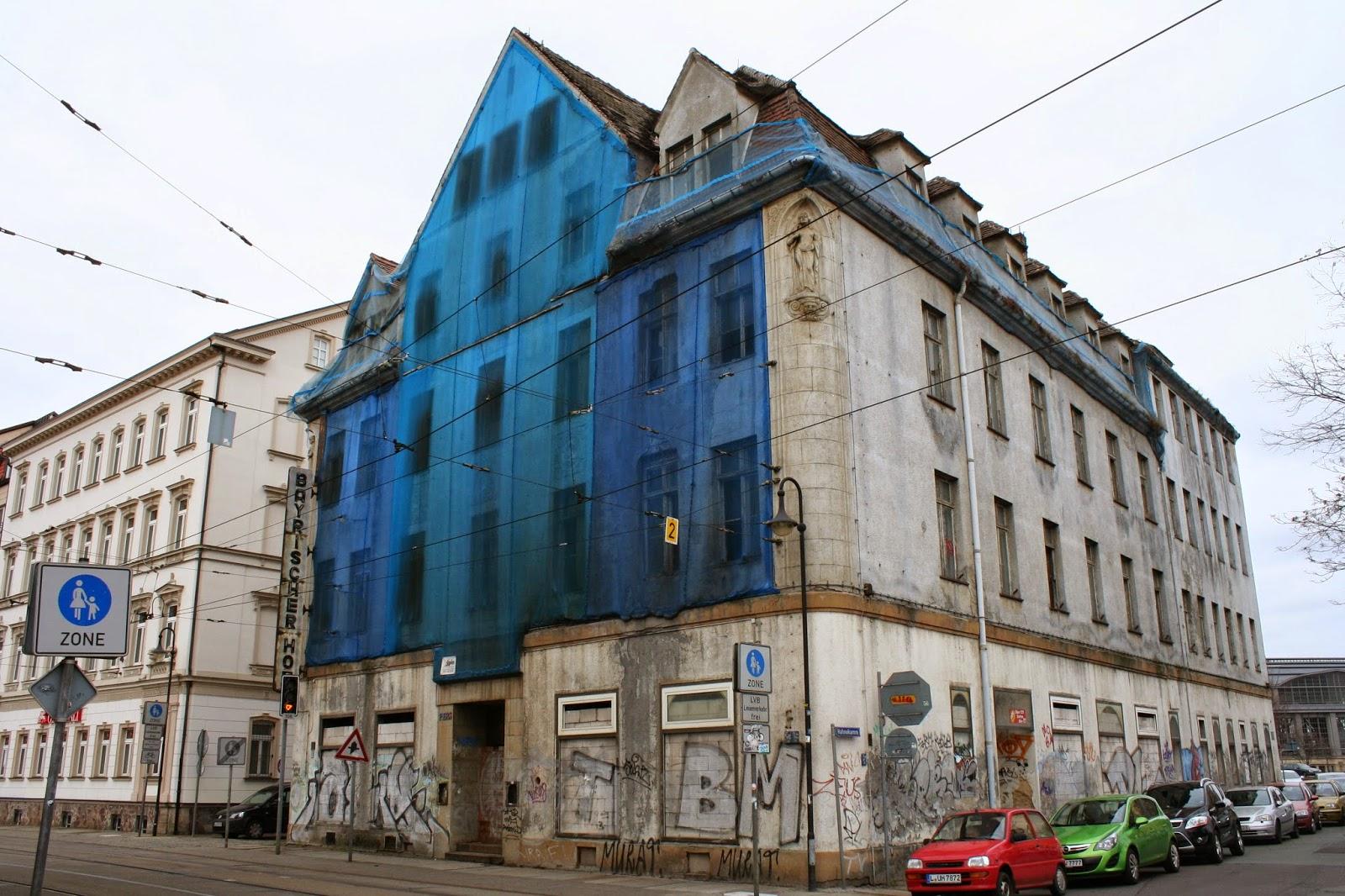 """Das Gebäude des ehemaligen """"Hotels Bayrischer Hof"""" befindet sich an der Wintergartenstraße unweit des Hauptbahnhofes - zu DDR Zeiten nannte es sich HO Hotel"""