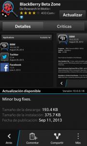 La aplicación BlackBerry Beta Zone se a actualizado en el BlackBerry World a la versión 10.0.0.18. Los cambios en esta versión son: Corrección de Errores Descarga AQUI