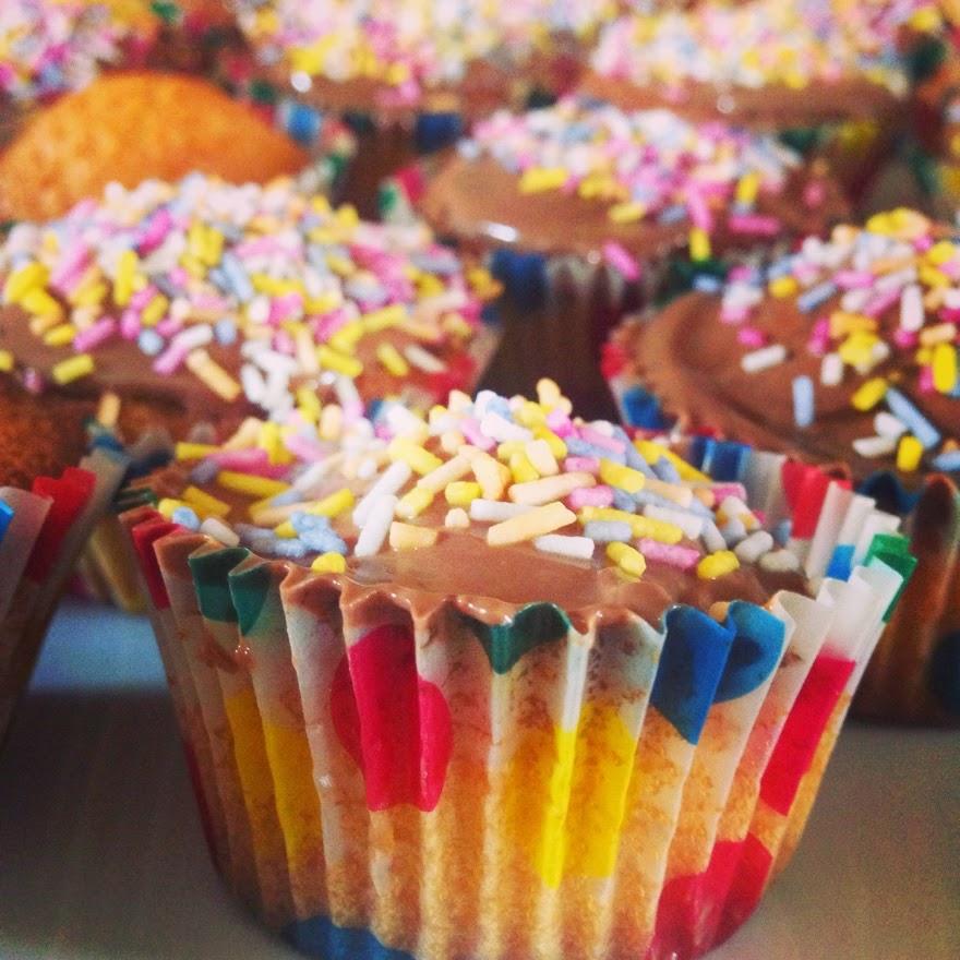 Inked Hibiscus cupcakes sprinkles chocolate