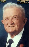 Oud-strijder uit wereldoorlog I, Cyrillus Camillus Barbary 1899-2004 (bidprentje)