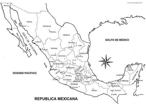 Mapa Republica Mexicana con nombres, División política | QUE HAY ...