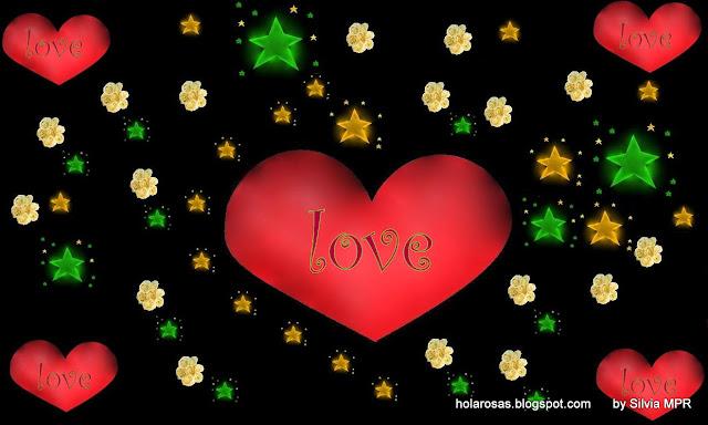 Corazón y Estrellas imagen para Facebook