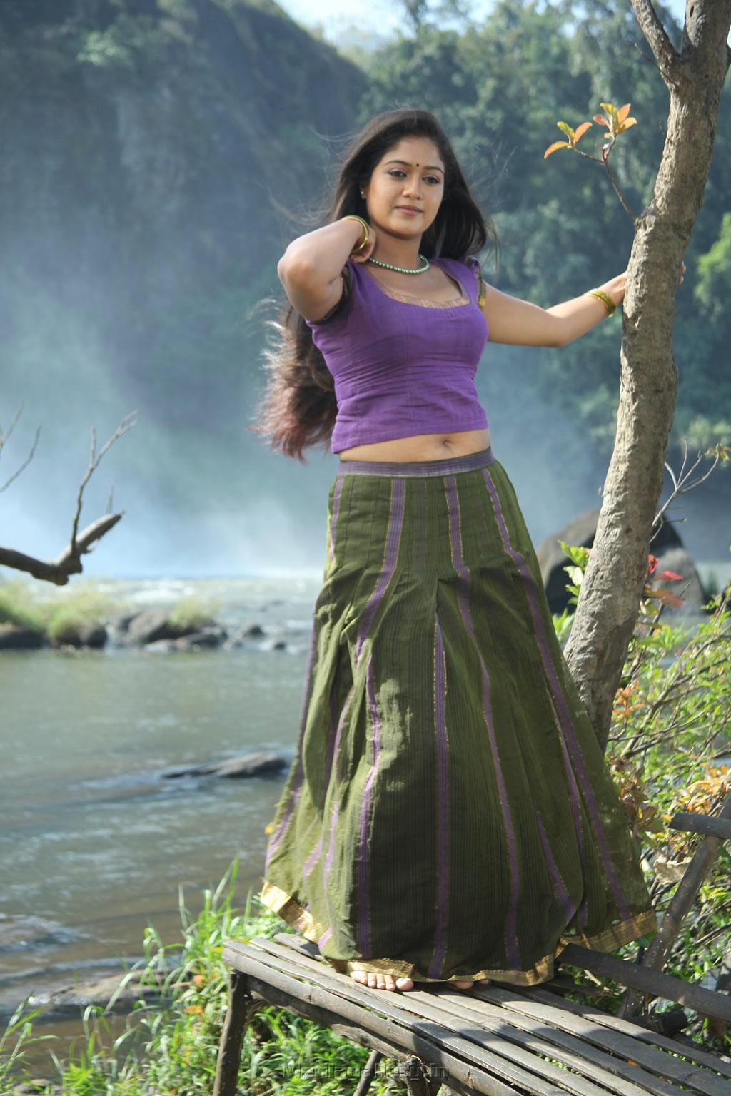 Meghana Raj New Hot Wet Saree Photos - HD Latest Tamil