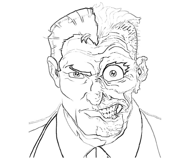 printable-batman-arkham -city-two-face-coloring-pages