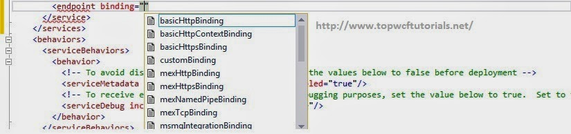 WCF 4.5 - Intellisense Support for Binding