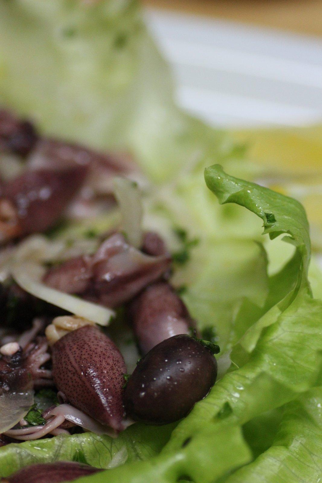 サラダ ホタルイカ