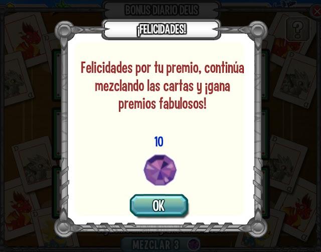 premio gemas del bonus diario deus