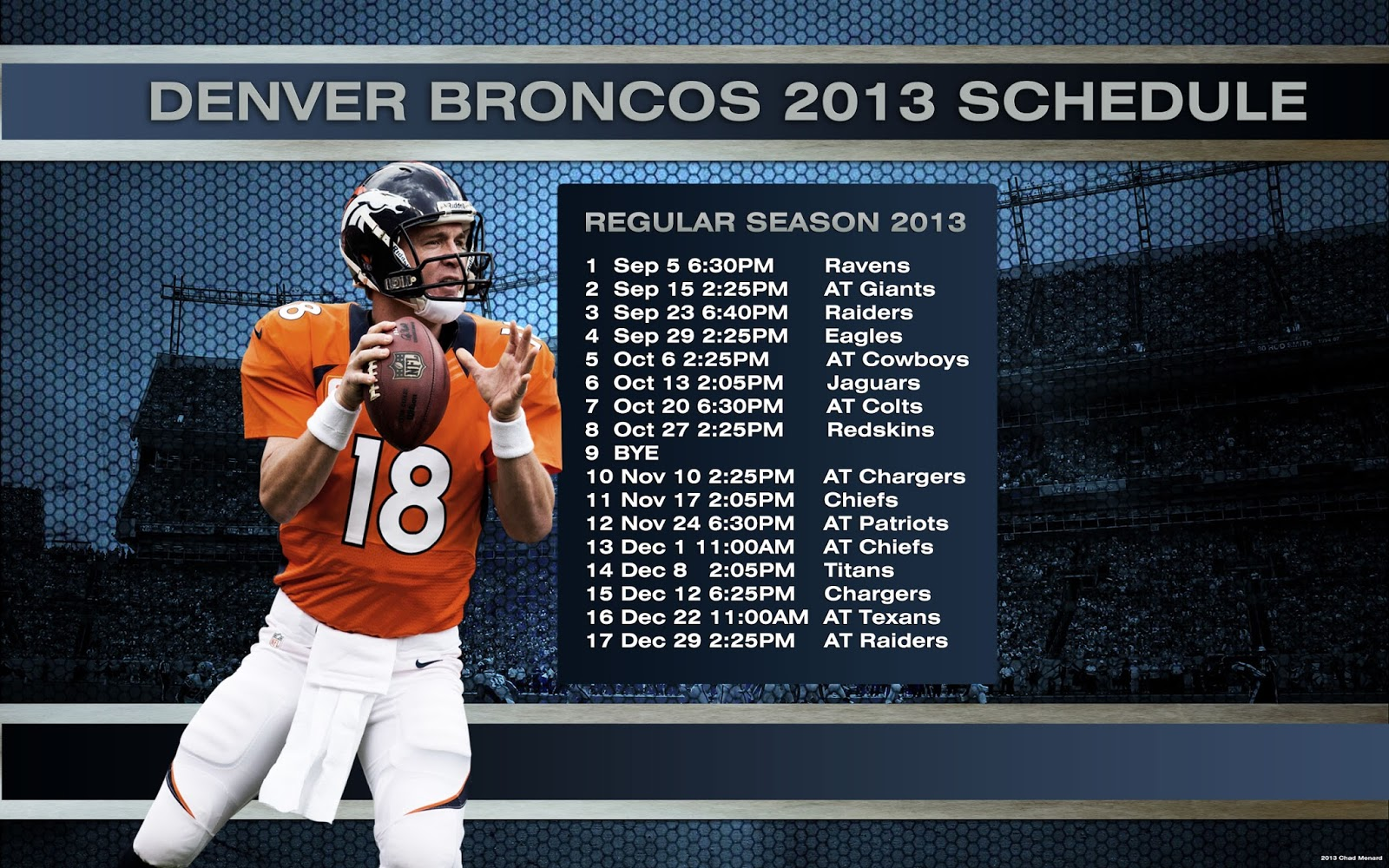 Denver broncos picture august 2013 2013 schedule voltagebd Image collections