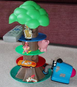 Winnie the Pooh Tip'n'Topple played with alternative items including a TV remote, the Noo-Noo, a pokemon, Diddy Kong and Scooby-Doo.
