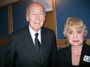 *M. Valéry Giscard d'Estaing, ancien Président de la République Française & Morgane BRAVO*