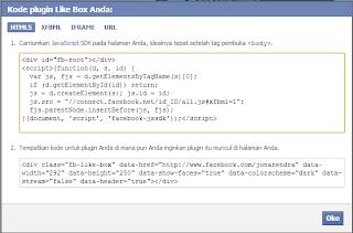 Kode HTML Facebook Page Blog Jona Rendra - Jona Rendra