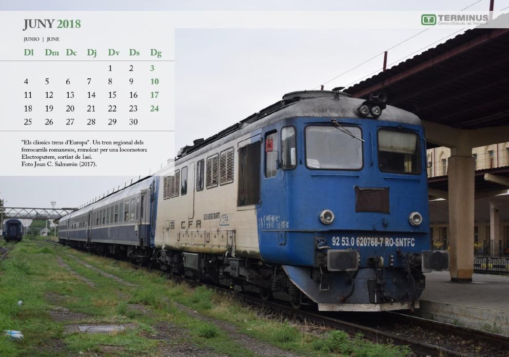 Calendari Ferroviari - JUNY 2018