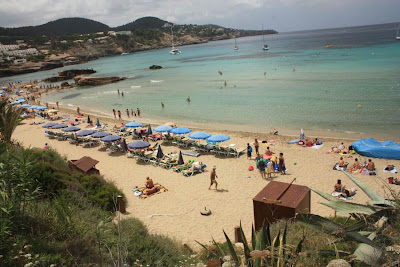 Cala Tarida beach in Ibiza