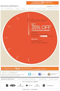 Click to view this Jan. 25, 2011 Banana Republic email full-sized