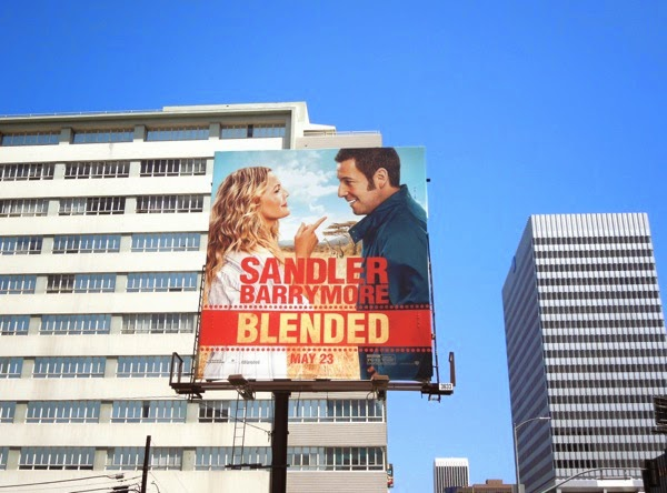 Blended movie billboard