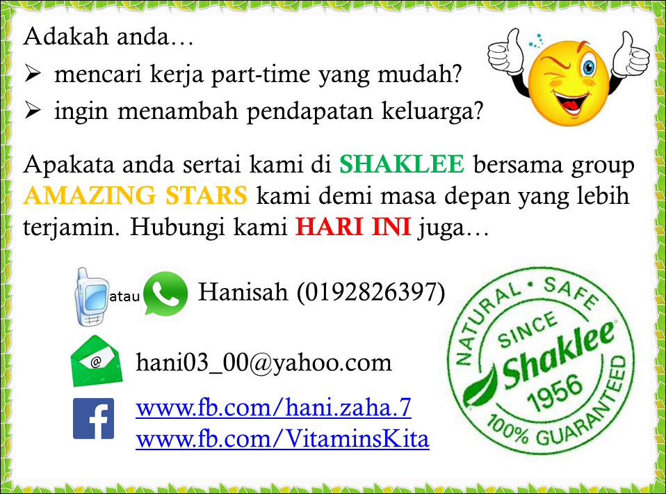 STARS Shaklee info