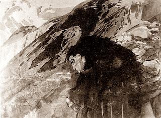 Mikhail Vrubel - Demon flying
