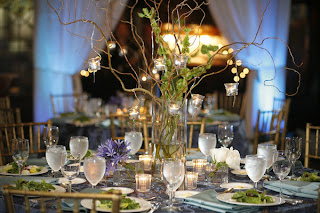 Simple Tall Wedding Centerpieces With Branches