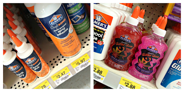 #GluenGlitter Elmer's Glitter Glue and Craft Bond Products at Walmart
