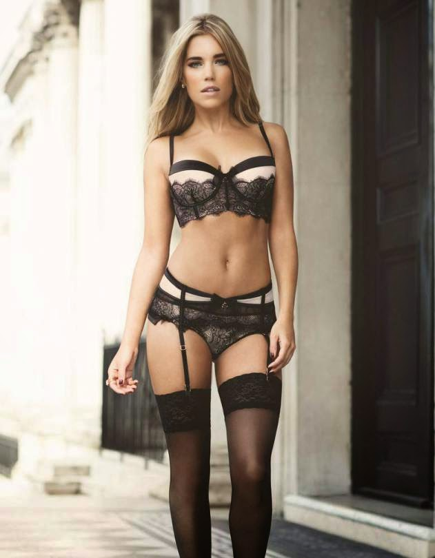 Hunkemöller Holiday 2014 Lingerie Campaign featuring Sylvie Meis