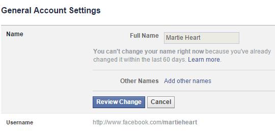 mengganti nama akun facebook