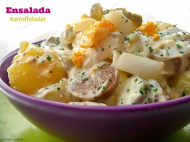 Con sabor a canela ensalada alemana de patata - Ensalada alemana de patatas ...
