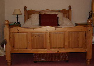 pine double bed shabby chic