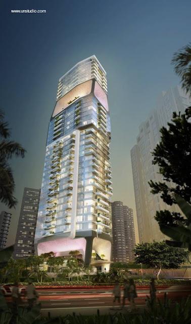 Torre residencial en Singapur imagen de renderizado