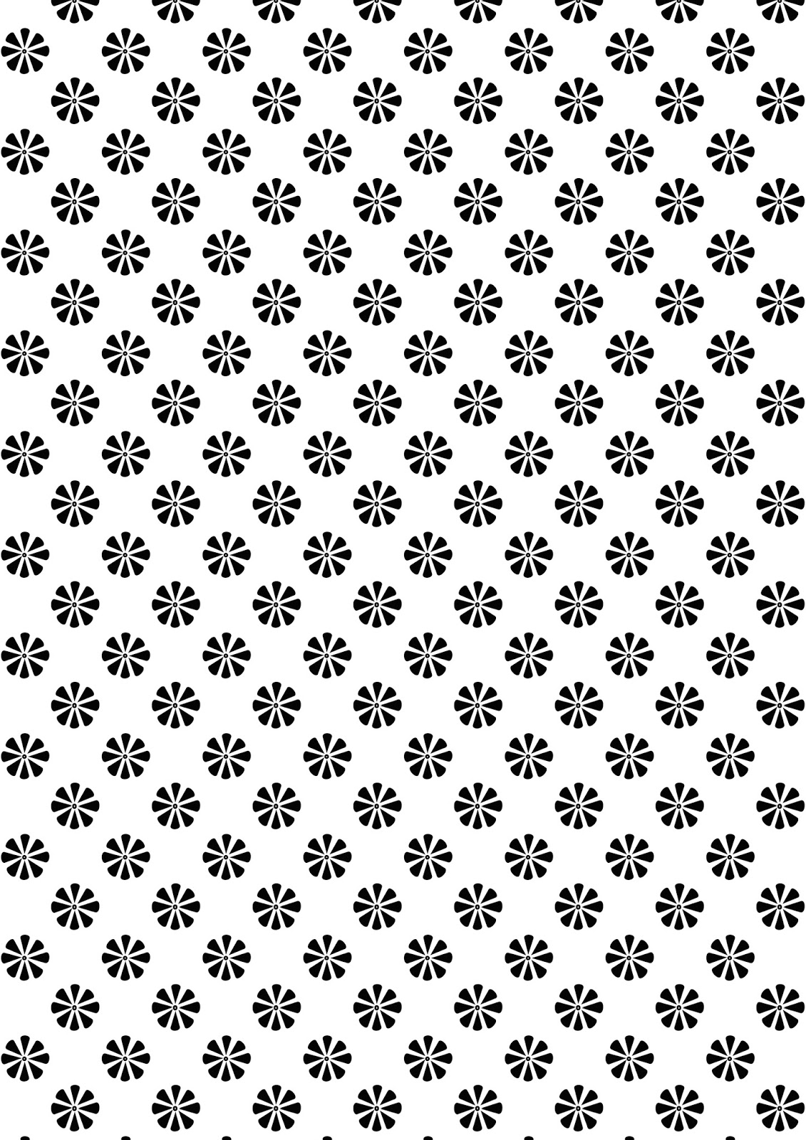 Free Printable Floral Pattern Paper DIN A 4 Black And White Gift Wrapping
