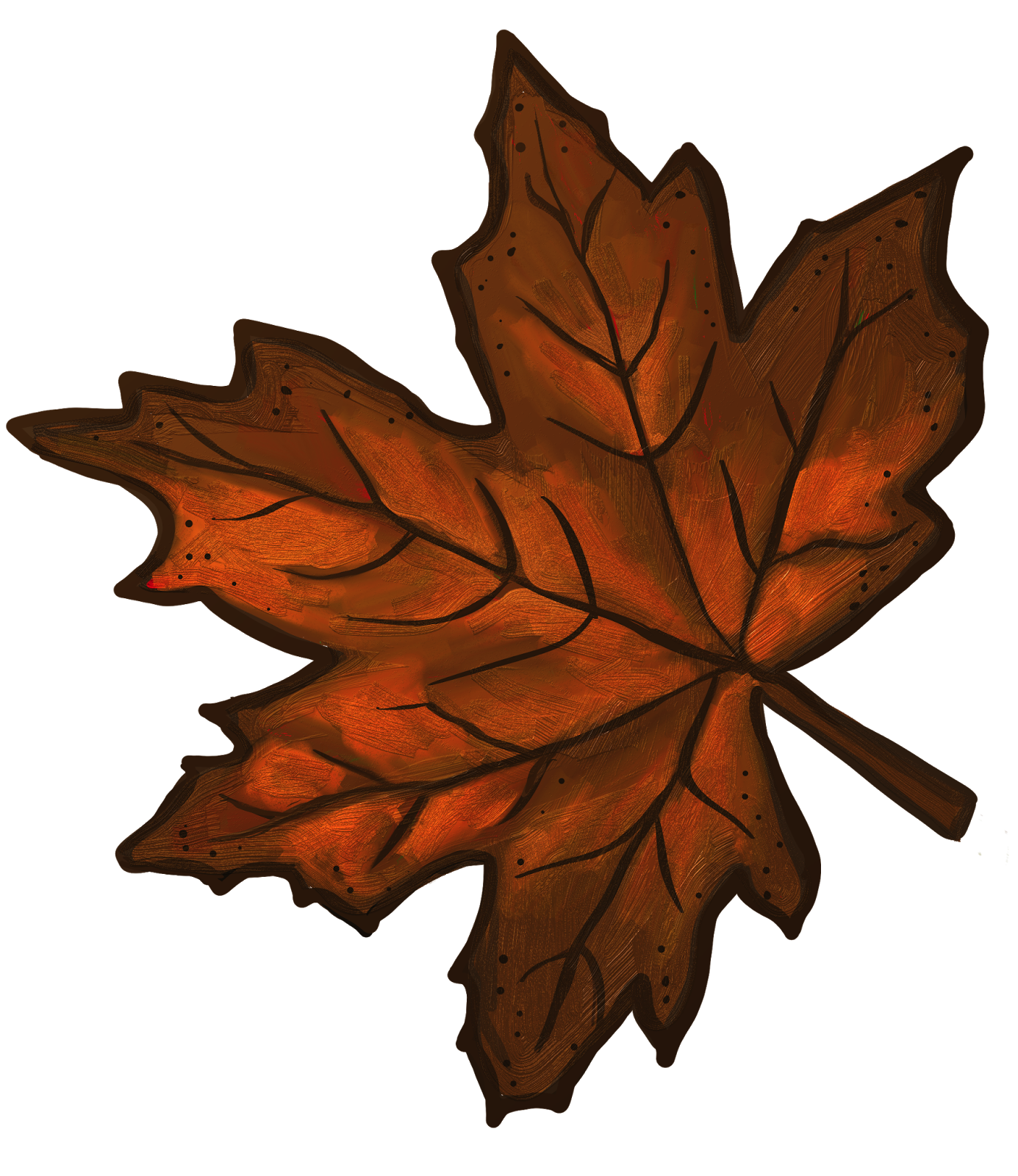 Orange And Red Painted Leaves