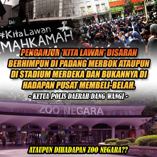 Penganjur #kitalawan Diberi Amaran Lisan Oleh Polis!
