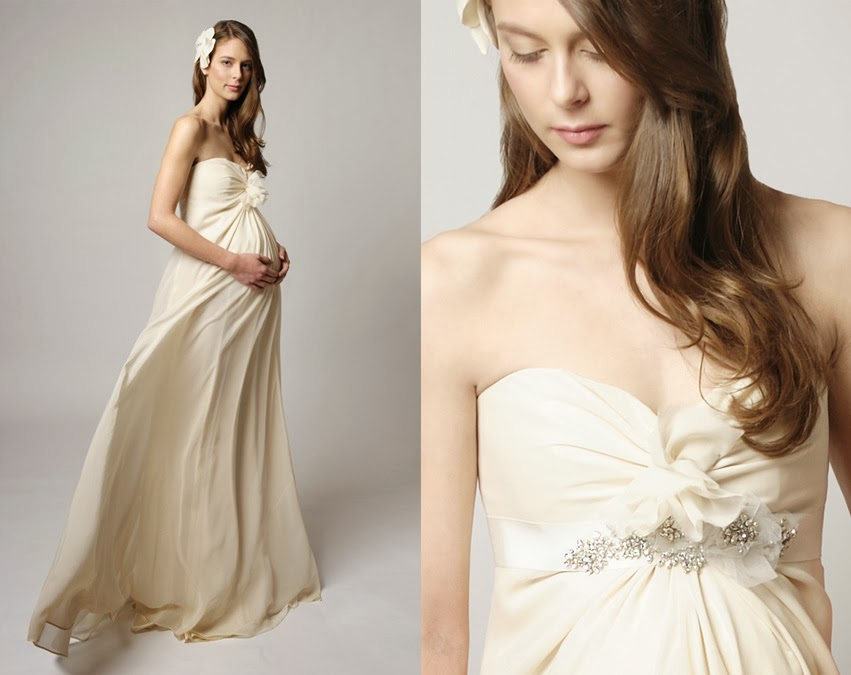 Maternity wedding gown adjust size when using regular gown