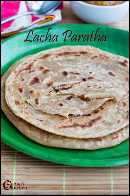 Lacha Paratha Recipe | Layered Indian Bread Recipe