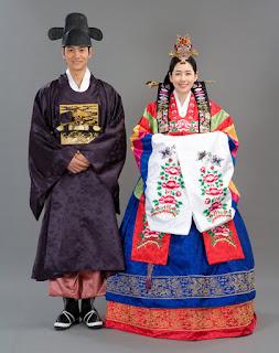 busana adat penikahan ala korea