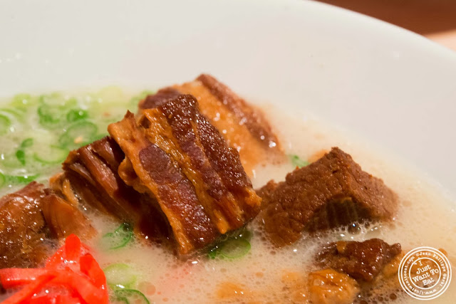image of braised pork belly in Shiromaru Hakata Classic at Ippudo West Side in NYC, New York