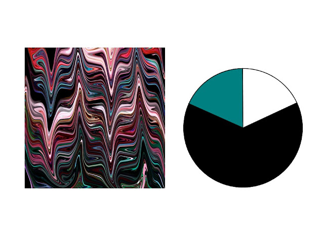 black, pink, red, teal and aqua marble patterned silk scarf with black, white and teal color scheme
