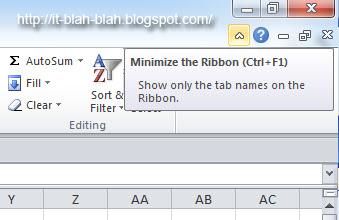 Minimize Ribbon button