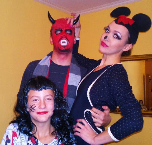 makijaż halloweenowy diabeł