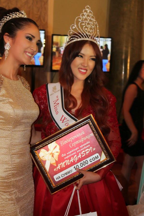 Miss Kyrgyzstan World 2014 winner Aykol Alykzhanova
